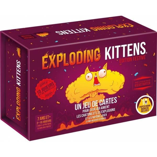 exploding kittens : édition festive boîte