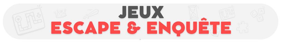 Jeux de société escape game - Boutique en ligne - Ludum.fr